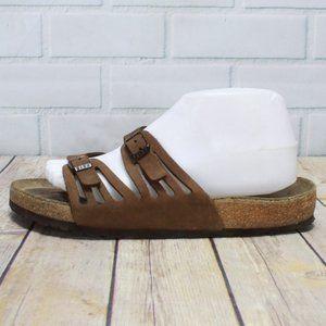 Birkenstock Brown Granada Slide Sandals Sz 40